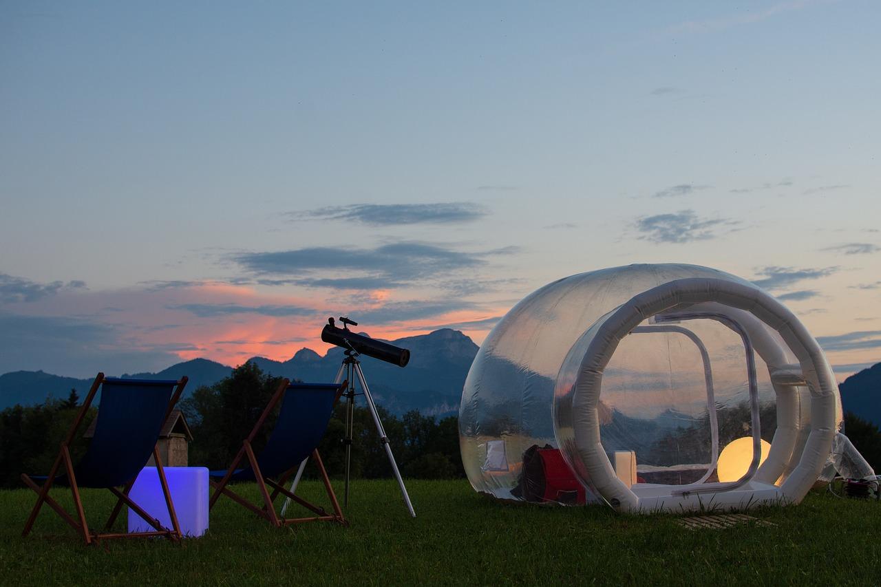Et si vous dormiez dans une bulle le temps d'une nuit ? [Insolite]